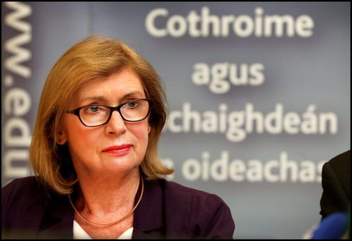Education Minister Jan O'Sullivan may be vulnerable if opinion polls are to believed. Photo: Steve Humphreys