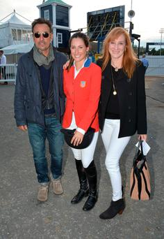 Bruce Springsteen with his wife Patti Scialfa and daughter Jessica Springsteen at the Dublin Horse Show in 2014. Photo: Cathal Burke