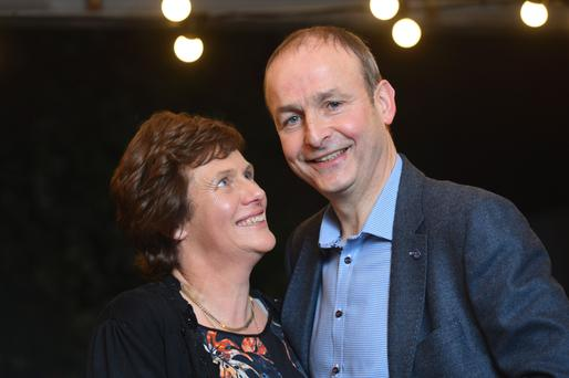 Happy couple: 'I think she probably did think we were friends. I had different ideas, to a certain extent.' Micheal Martin and his wife Mary pictured in Cork last week where they had dinner with the Sunday Independent's Barry Egan. Photo: Daragh McSweeney/Provision