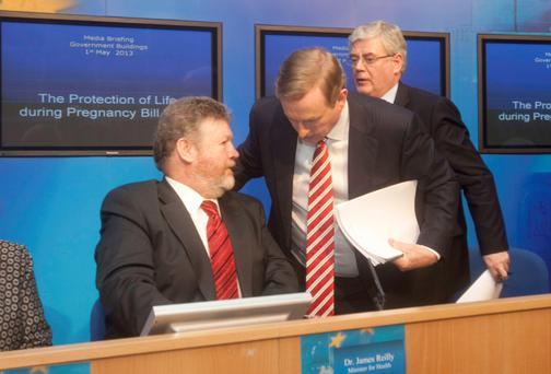Enda Kenny with James Reilly