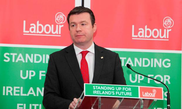 Alan Kelly at the launch of the Labour Party's Election Manifesto. Photo: Leah Farrell/RollingNews.ie
