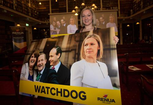 Fine Gael candidate Kate O'Connell has called on Renua leader Lucinda Creighton (pictured) to publish all evidence in relation to the legal fees controversy in the interests of transparency and accountability. Photo: Mark Condren