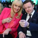 Oliver Callan and Miriam O'Callaghan. Photo: Damien Eagers