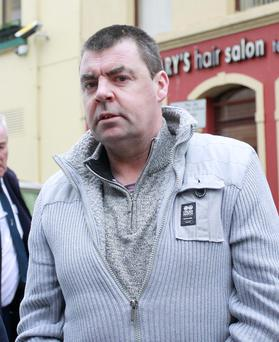 Seamus Daly arrives at Omagh Magistrates Court yesterday. Photo: PA