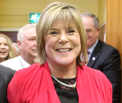 Fianna Fáil's Mary Butler had a sensational win, reaching the quota on the first count. Picture: Patrick Browne