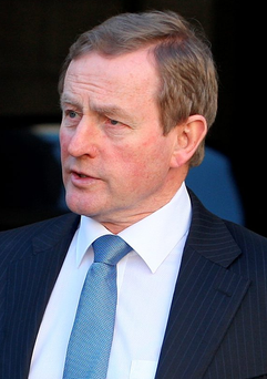 Enda Kenny said that a range of options would be considered to investigate transactions by the former Anglo Irish Bank Photo: Tom Burke