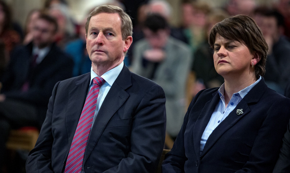 Mr Kenny will seek the views of the Belfast devolved government, however the attitude of the Democratic Unionist leader, Arlene Foster, and her colleagues will be crucial. Photo: Arthur Carron Photography