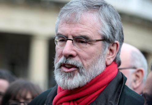 Sinn Fein leader Gerry Adams. Photo: Tom Burke