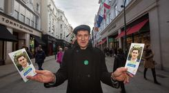 Green Party leader Eamon Ryan canvassing in Dublin. Photo: Mark Condren