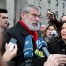 Gerry Adams and Mary Lou McDonald. Photo: Tom Burke