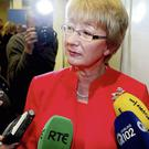 Mary Hanafin pictured at the count in Citywest