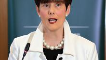 Minister for Education Norma Foley pictured during budget briefing at the Dept of Education in Dublin.Picture Credit:Frank McGrath 14/10/20