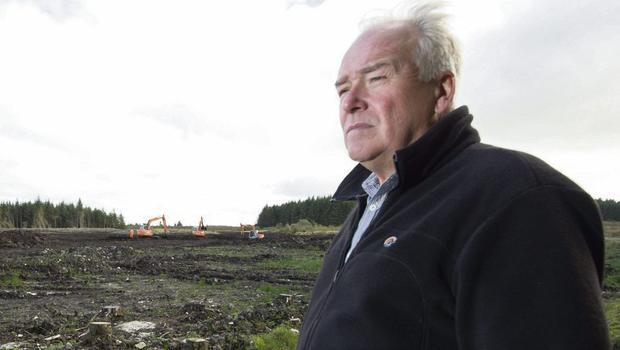John Hill at a previous search site for Columba McVeigh