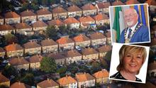 """Inset: Cllr Ruth Nolan and Mayor Guss O'Connell """"demand answers"""" about why the council rejected the NAMA homes"""