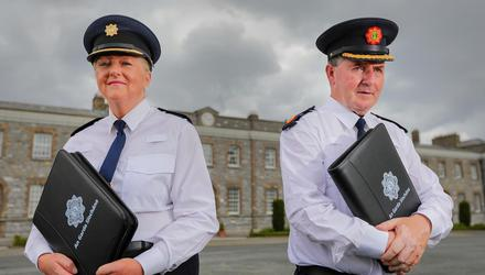 Chief SuptJohanna O'Leary and Assistant Commissioner Pat Clavin lead the new Garda anti-corruption unit. Picture by Gerry Mooney