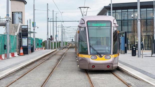 The Luas will not run between Blackhorse and The Point this morning.