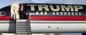 Donald Trump's jet at Shannon in 2014