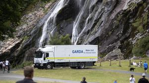 Gardai at Powerscourt Waterfall, Co Wicklow. Picture: Colin Keegan