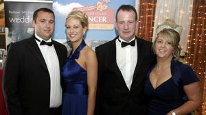 Jason Corbett and Molly Martens with Jason's sister Tracey Corbett Lynch and her husband David. Photo: Brendan Gleeson