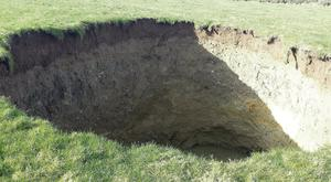 The sinkhole at Galmoy