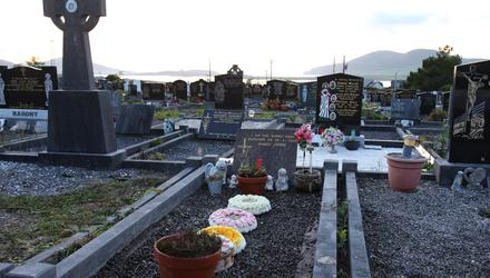 The grave of Baby John at Holy Cross cemetery in Cahersiveen. Photo: Alan Landers.