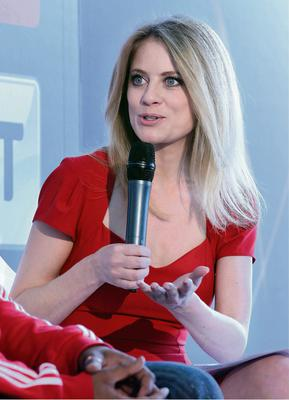 Sky Sports Presenter Rachel Wyse at  the launch of  Sky Sports Living for Sport  programme for Schools