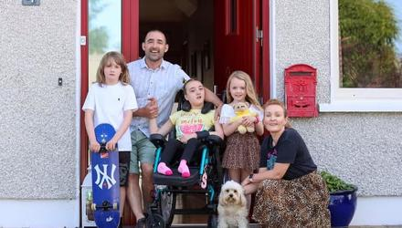 Joan Daly, husband Aaron and their children Sophia (15), Suin (8) and Oran (10)
