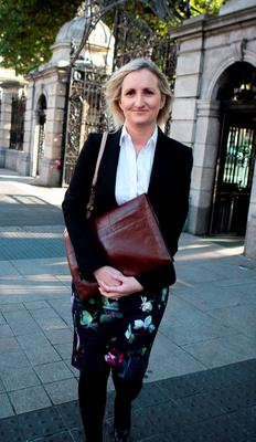 Coombe Hospital Master Dr Sharon Sheehan appears at the Joint Oireachtas Committee on Health and Children in Leinster House yesterday to discuss maternity services