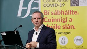 HSE Chief Executive Paul Reid confirmed the millionth dose had been given out in Ireland today.