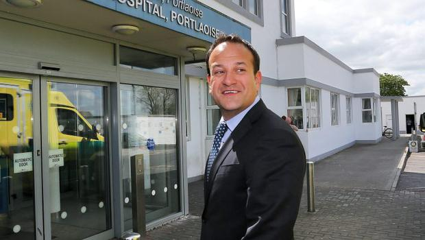 Concerns: Health Minister Leo Varadkar at the Midlands Regional Hospital in Portlaoise where he met with hospital management