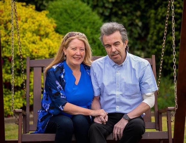 Pat Harty today, after surviving Covid, with his wife Pamela