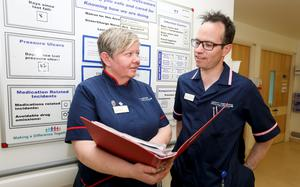 Matron, Josie Gladney (Carlow) and Deputy Chief Nurse, Eamonn Sullivan (Waterford) at University College London Hospital in London's Euston Square - Tuesday 26th May 2015 -