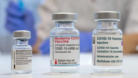 Used vaccine vials that contained Covid-19 vaccines. Photo: Getty Images