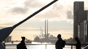 People walking to work in Dublin as offices are allowed to reopen after Covid-19 restrictions. Photo: Sam Boal/Rollingnews.ie