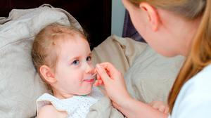 Paracetamol syrup can ease a fever, sore throat and pain caused by Respiratory Syncytial Virus (RSV). Photo: Stock image
