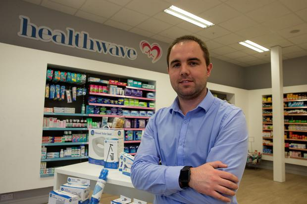 Shane O'Sullivan pictured at the Healthwave Pharmacy in Dundrum