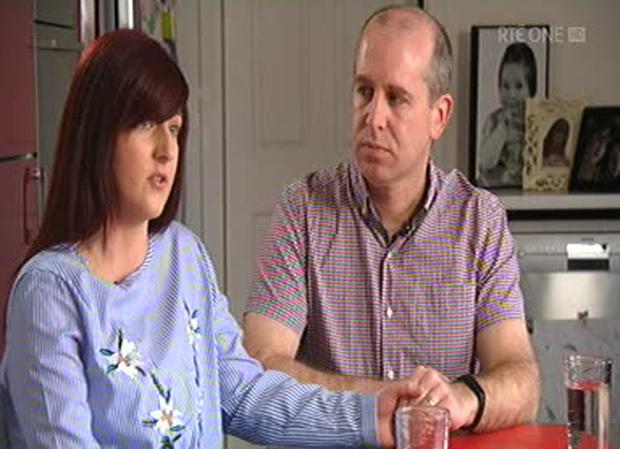 Lorraine and Warren Reilly Photo: RTE screengrab