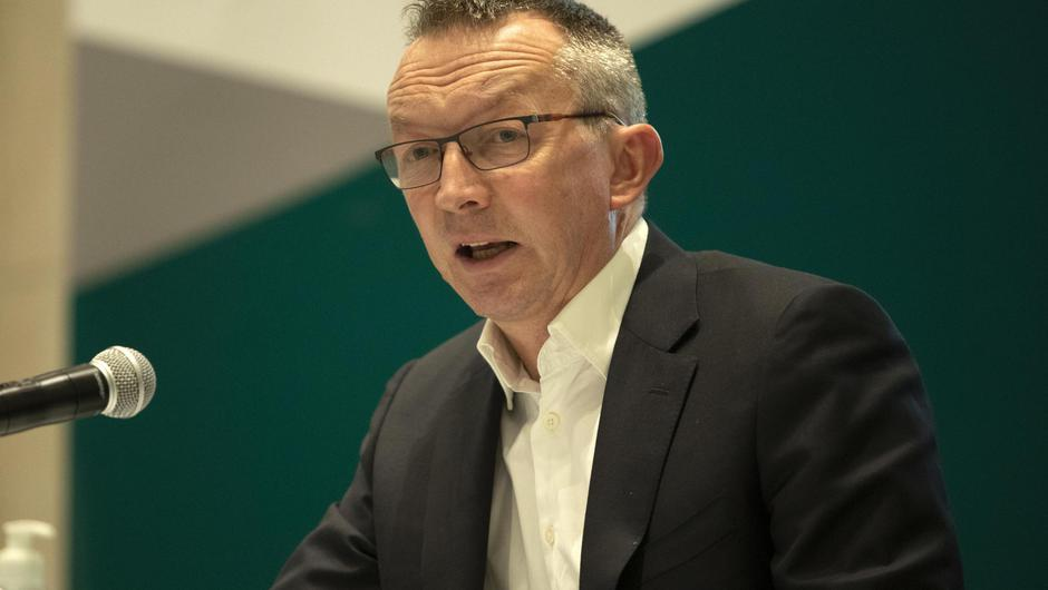 Dr Colm Henry, Chief Clinical Officer of the HSE, outlined the importance of a third vaccine jab for anyone with a weakened immune system. Photo: Colin Keegan/Collins Dublin