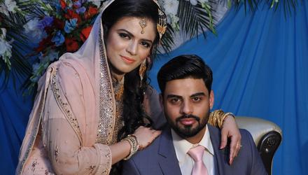 Ayaz Ul Hassan and his late wife Nayyab Tariq on their wedding day. An inquest into her death recorded a verdict of medical misadventure