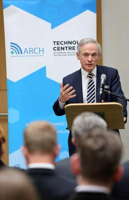 Enterprise minister Richard Bruton at the launch of the new Connected Health Technology Centre