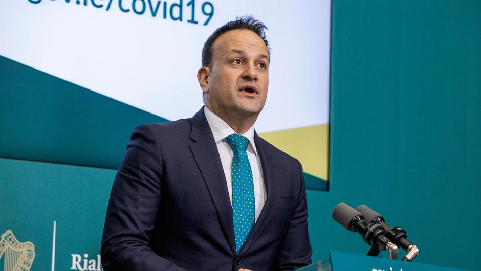 Tanaiste Leo Varadkar during a press briefing at Government Buildings. Photo by: Julien Behal Photography/PA Wire