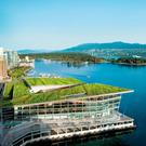 The Vancouver Convention Centre: the building has a 6.4 acre grass roof