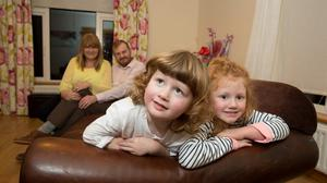 Carmel Harrington from Screen, Co.Wexford photographed with her husband Roger, daughter Amelia aged 5 years and son Nate aged 3 years
