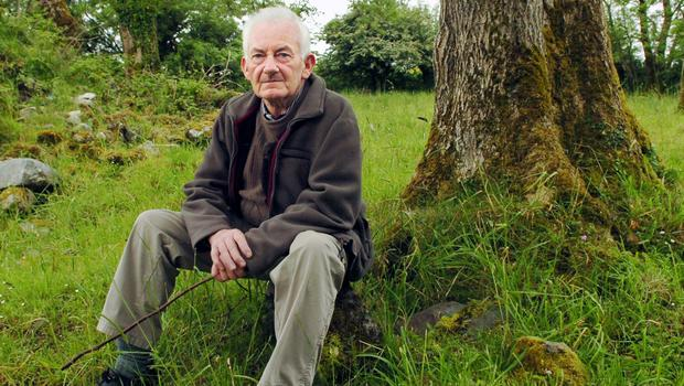 Martin Neary on his farm following An Bord Planála's decision to allow him be buried on his farm in Swinford, Co Mayo