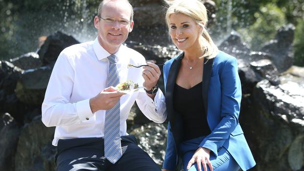 Simon Coveney, Minister for Agriculture with Avril Bannerton, MD of Taste of Ireland at the opening of Taste of Dublin food Festival at the Iveagh gardens, Dublin