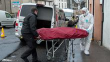 The body of Mr Kivlehan is removed from his home in Holborn Court, Sligo