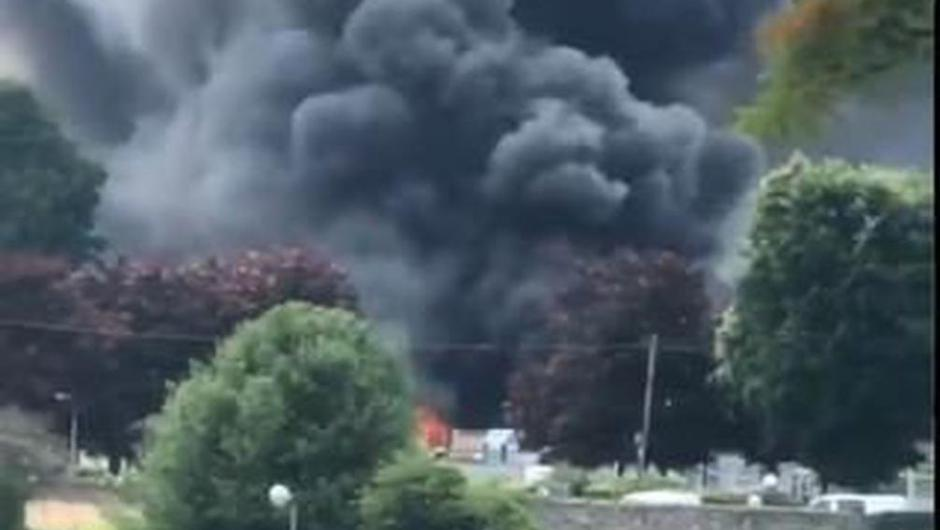 The fire in Newry. Photo: NIFRS