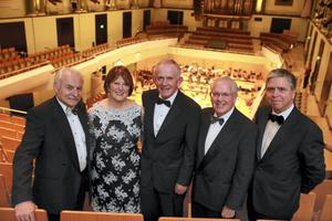 Simon Taylor, National Concert Hall, Carmel and Leslie Buckley, founders of Haven, with Ronnie Foreman and Ian Hyland of Haven at the charity's inaugural annual Haiti Concert Fundraising Event at the National Concert Hall, Dublin. Picture: Arthur Carron