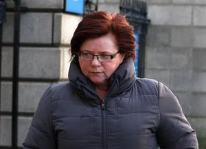 Marie Farrell arriving at the Four Courts yesterday. Picture: Courts Collins