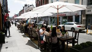 Diners embrace the reopening of bars and restaurants in Dublin. Photo: Gareth Chaney/Collins Dublin
